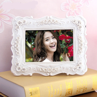 Natural resin christmas Tabletop decoration resin Vintage antique photo picture frame