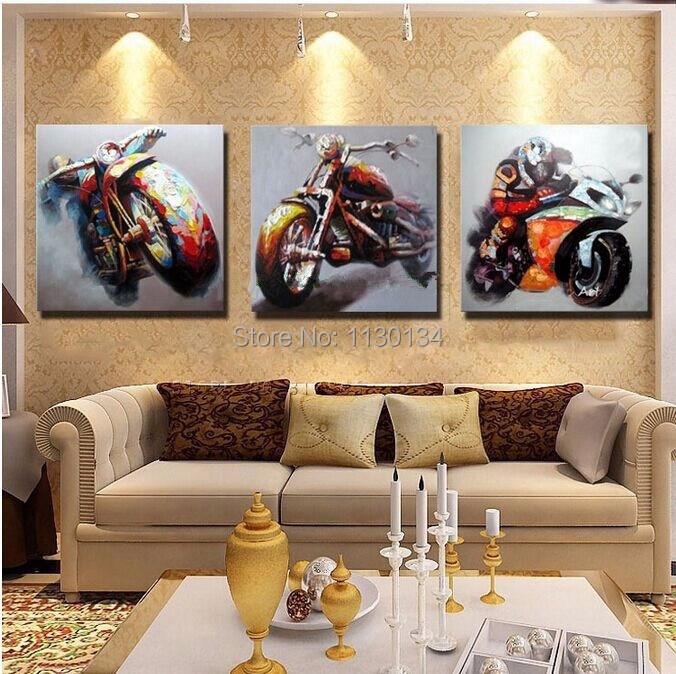 Motorcycle Triptych Home Decor Diy Diamond Painting Resin