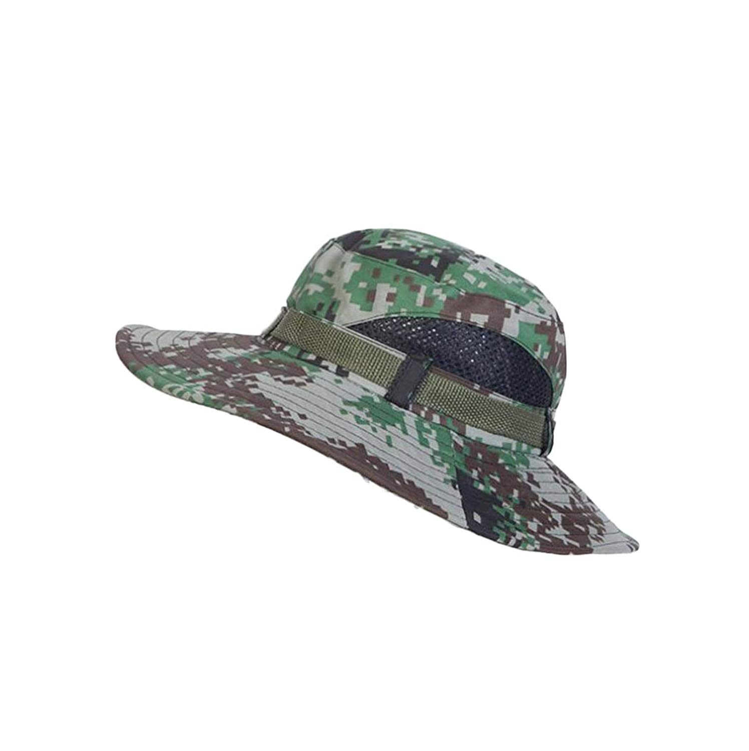 628e58b4abd25 Get Quotations · 4URNEED Camo Mens Wide Brim Outdoor Sun-Hats Fishing Hats  Hunting Hats Safari Summer Hat
