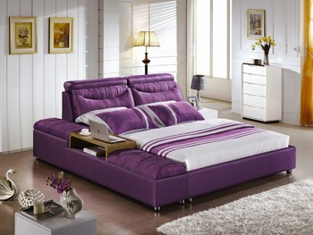 Awe Inspiring Fashion Design Purple Fabric Double Bed With Ottoman Buy Double Bed Fabric Double Bed Modern Double Bed Product On Alibaba Com Machost Co Dining Chair Design Ideas Machostcouk