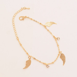 2017 new couples Bracelet Angel wings crystal fine chain alloy bracelet fashion jewelry china online shopping female bracelets