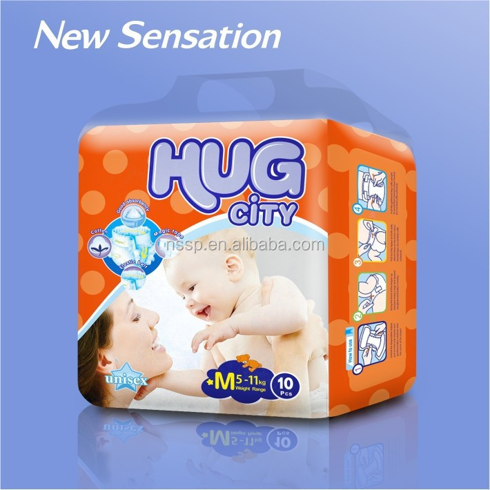 OEM 100% Blue ADL Custom Printed Diaper Manufacturer from China (MB002)
