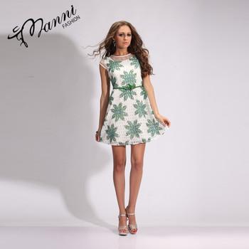 2018 Summer Fashion Women Runway Designer Beading Fl Green Leaf Patterns Dress Sleeveless Dresses