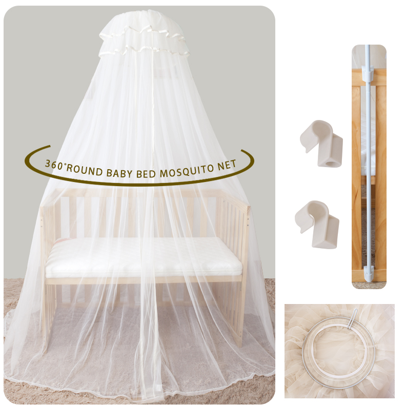 Mother & Kids Housbay High Quality Crib Mosquito Netting Baby Bed Round Canopy Mosquito Net And Baby Bedding Mosquito Curtain Easy To Install Baby Bedding