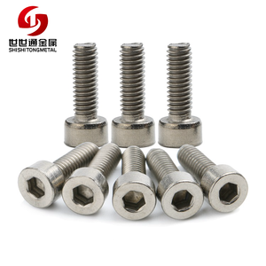 Stainless Steel 304 314 316 Din 912 Allen M1.6 M2 M2.5 M3 M4 M5 M6 M7 Socket Head Cap Inner Hexagon Heat Resistant Screws