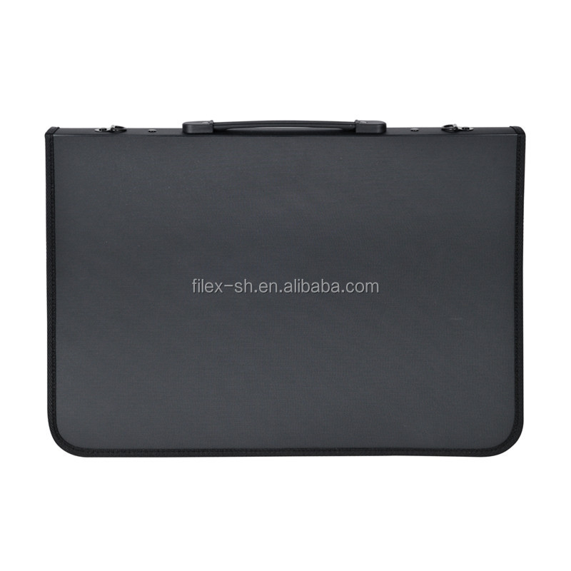 Office Supplies A1 A2 A3 A4 Sizes Black Refillable Drafting Portfolio Bag A4 Plastic File Folder/Document Box/ Box File