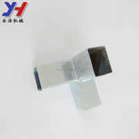 Pipe fitting customized aluminum square tube corner connector in 3 way