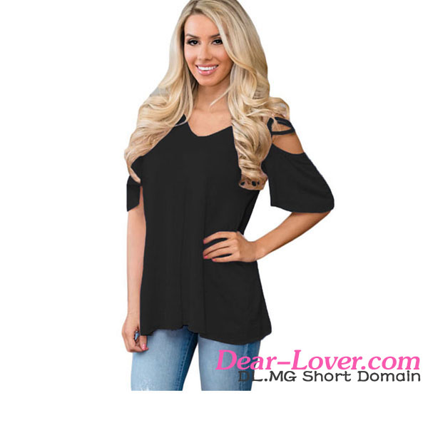 Casaul Cold Shoulder Crisscross Detail Relaxing Fit Latest Design Girls Top