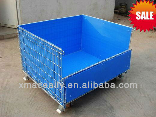 Heavy Duty Teel Warehousing Cargo Storage Boxes With Plastic Inside