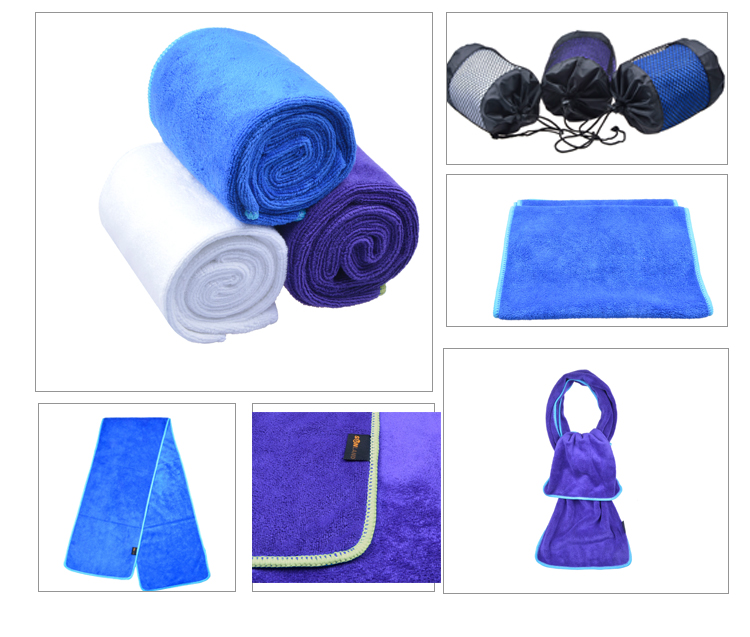 Mesh Bag Packaging Sports Quick Self Dry Outdoor Microfiber Towels