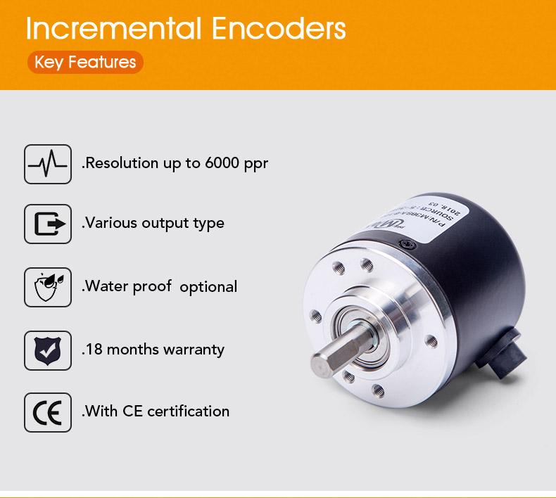 incremental dc motor 8mm 600 ppr rotary encoder