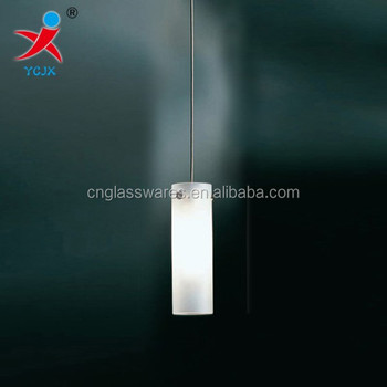 hanging blown cylindrical lamp shade/frost glass tube for lamp