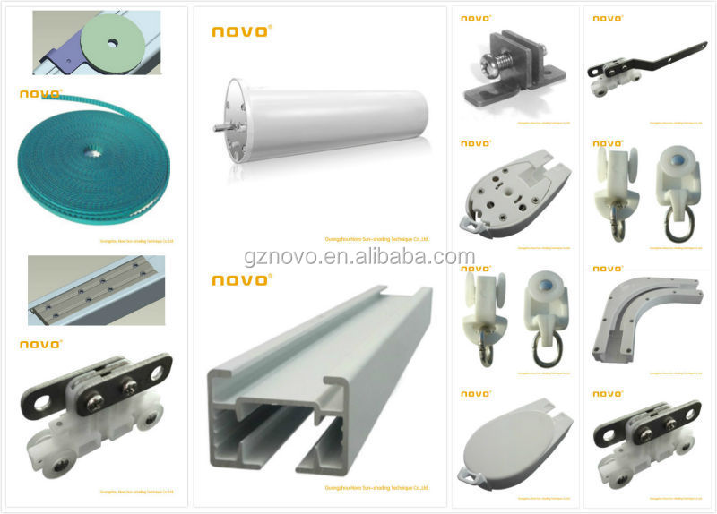 Curtains Ideas curtain rod accessories : Novo Motorized Curtain Track Hotel / Curtain Rods And Accessories ...