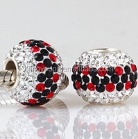 European style sterling silver austrian crystal bead