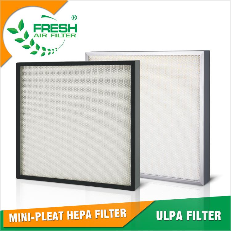 ميرف 18 19 H13 14 99.999% البسيطة الطية hepa فلتر الهواء ل غرفة نظيفة