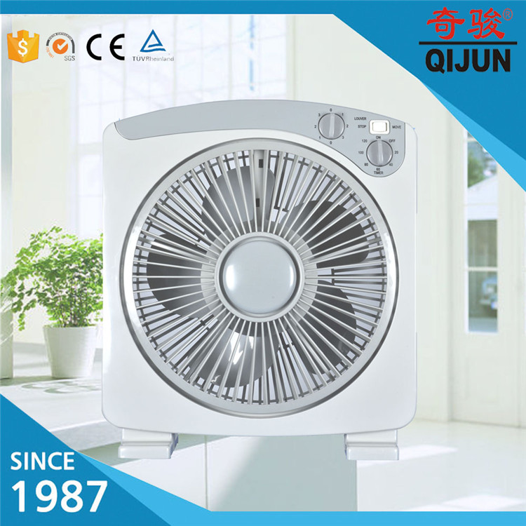 220V Box Fan 10'' Electrict Motor Cooling Fan Blade Box Fan Wholesale