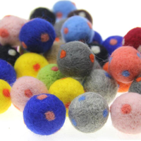 5pcs Multicoloured Wool Felt Balls Party Supplies Felt Wool Ball Roon Decoration For Kids