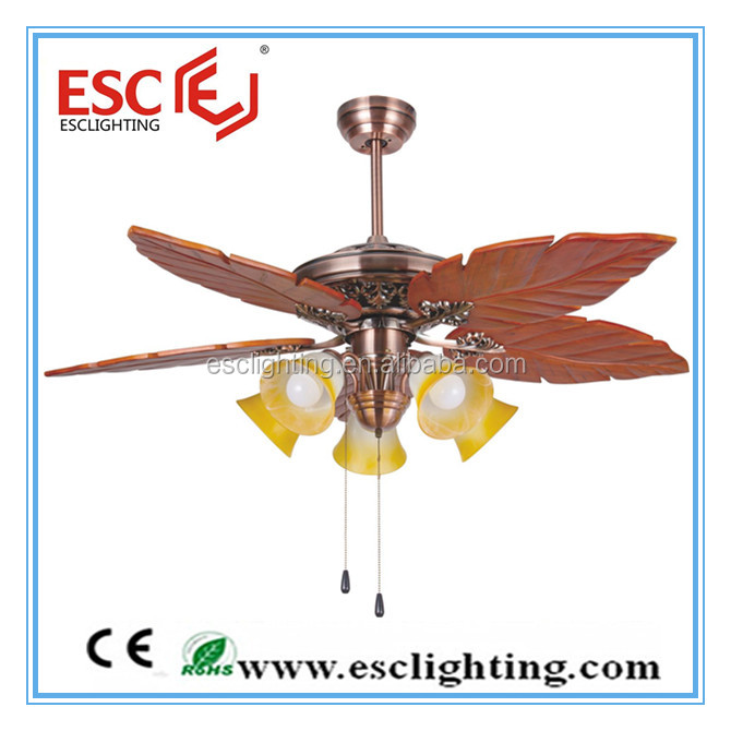 52'' inch ceiling fan light 5blade ceiling fan wood blade ceiling fan with light