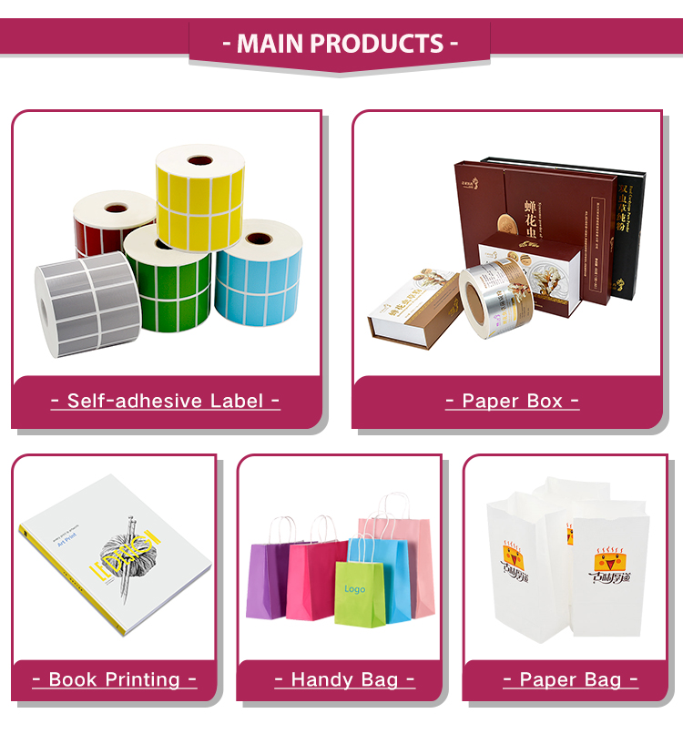 Custom size Logo Adhesive Stickers Printing Food Package  Label  Sticker Paper