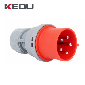 KEDU p531 popular sale 5 pin IP44 32a industrial electrical 380v plug socket with VDE,CE,SEMKO