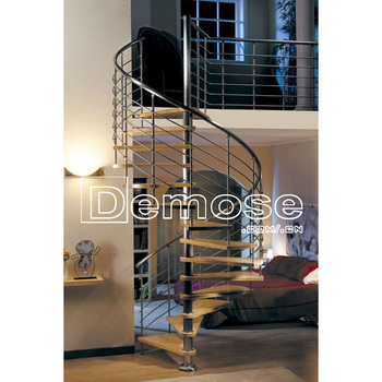 Stainless Steel Railing Arc Stair/rod Balustrade Staircase   Buy Stainless  Steel Railing Arc Stair,Stainless Steel Round Stairs,Residential Steel ...