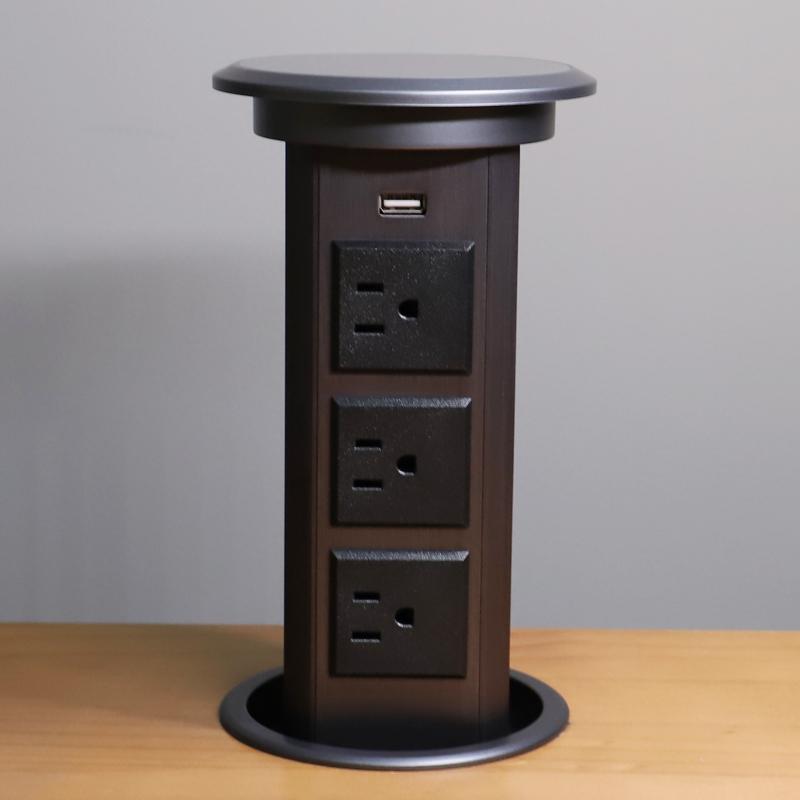 Escondido automático DA UE carregador usb tomada tomada de Desktop pop up mesa de reunião mobiliário de Escritório multi elétrica