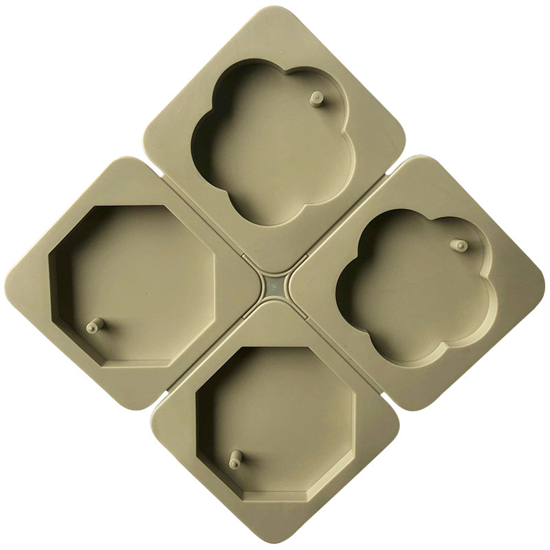 7016 factory stock 4 cavity haxagon and flower shape, Gypsum aromatherapy tablet,silicone candle molds