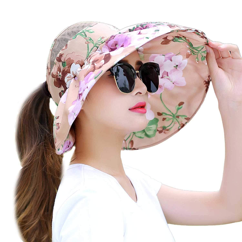 Get Quotations · Raycoon Hat Summer Sun Sun Hat Korean Version Of Leisure  Travel Wild Fold UV Sun Visors cac3756125c6