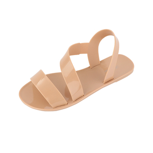 Wholesale Simple Design Ladies Fancy Flat Indian Bridal Wedding Palm Sandalias Blank Slide Plastic Jelly Sandals Women