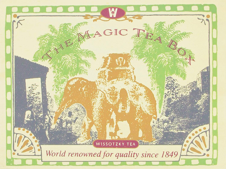 Wissotzky Tea Magic Tea Chest, Assorted Tea Collection w/ 80 Assorted Teas