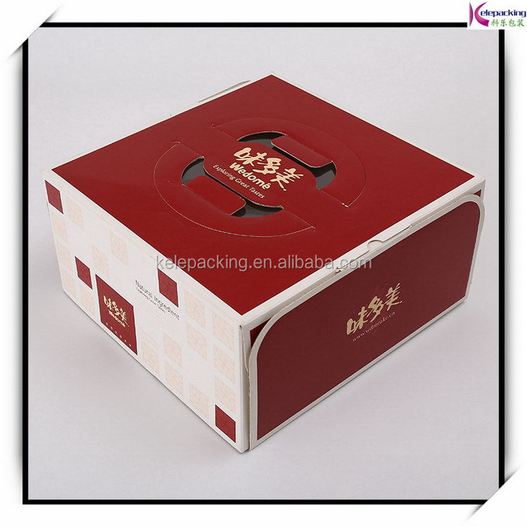 Factory Price hot selling box for cake box custom-made high quality portable window translucent west carton box