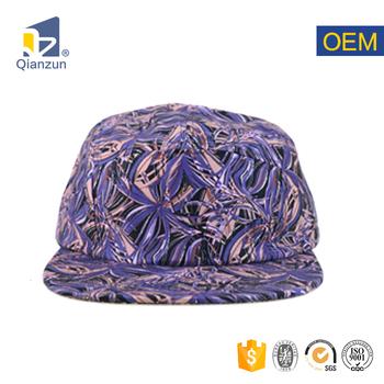 9d505838c Blank Wholesale Custom Print Pattern 100% Cotton Purple 5 Panel Cap - Buy  Blank 5 Panel Hats,Custom 5 Panel Hats,5 Panel Hats Product on Alibaba.com