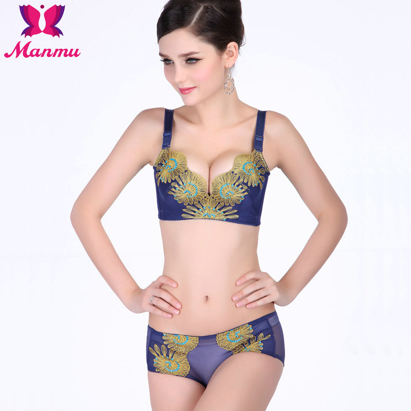 Sunflower Embroidery Push Up Bra,B/C Cup size 32 38, Free ...