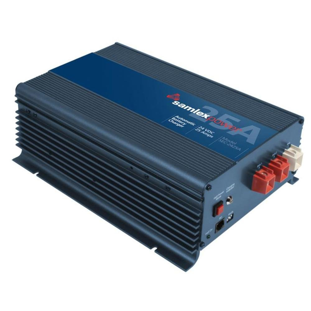 Samlex Sec-2425a 24 Volt 25 Amp 3 Stage Advanced Fully Automatic Iuou Battery Charger / Power Supply