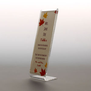 Small 2x6 inches picture strip booth stand L slanted plastic acrylic photo booth frame