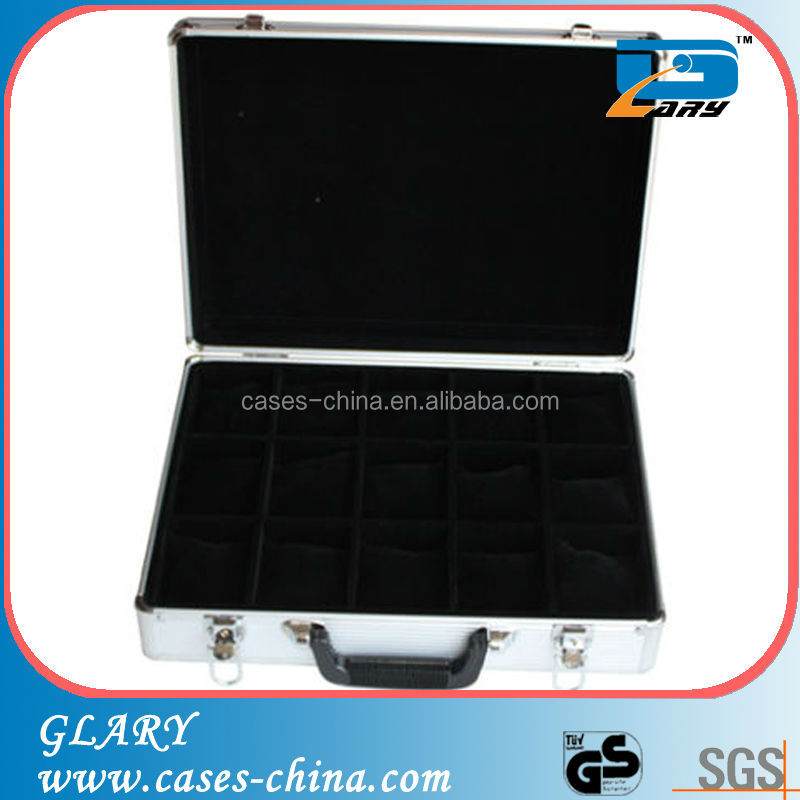 portable aluminum small tools display case