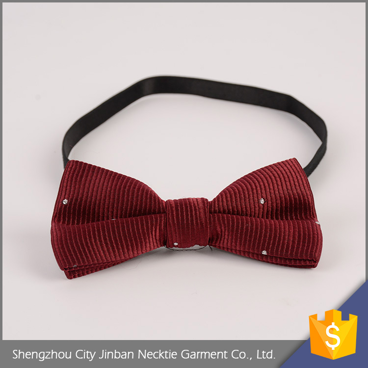 Latest design different design elegant polyester bow tie kids