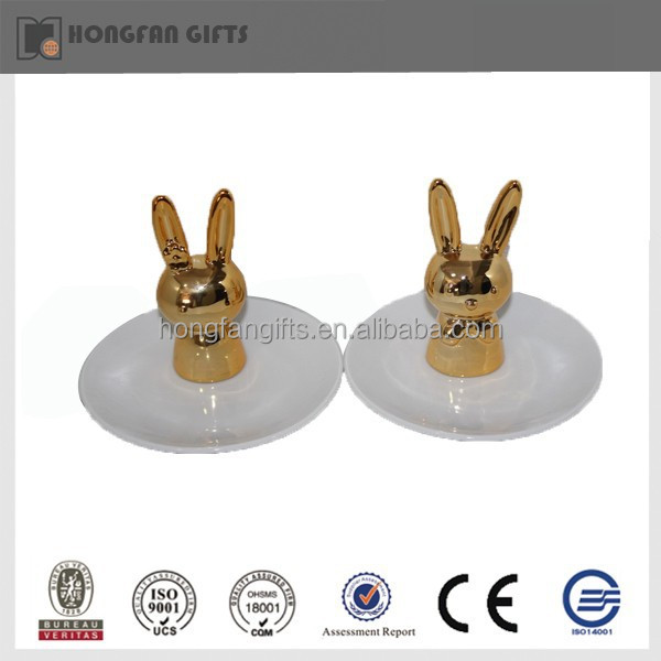 Hotsale ceramic dinner plates with rabbit