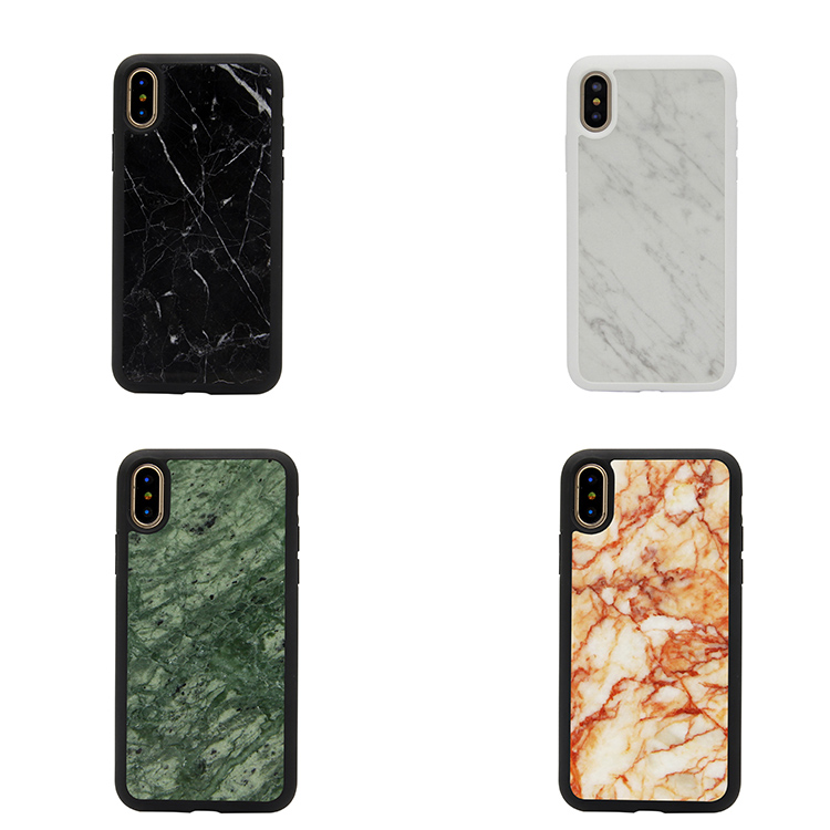 Genuine With Shiny Nature Marble Hard Cell Phone Case For Iphone X