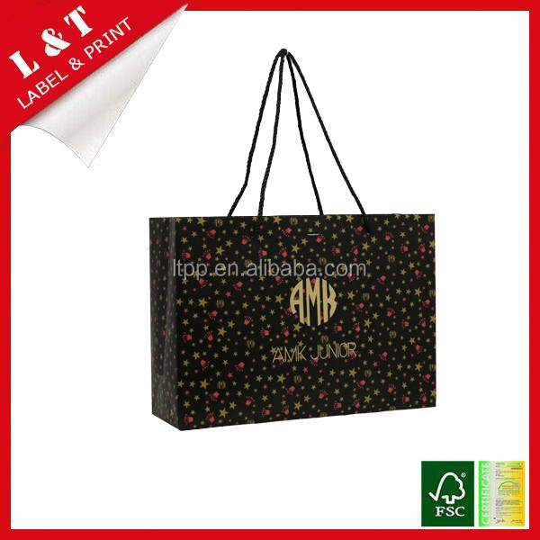 Custom design recycled durable low cost paper bag kraft kraft paper bag manufacturers