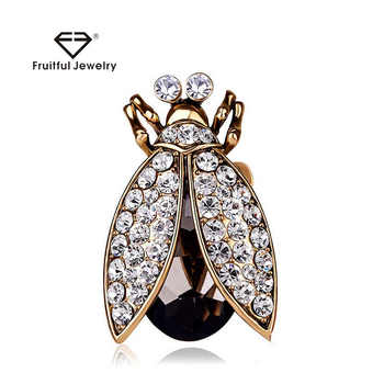 Fashion KC Gold plated Black Crystal Jewelry Luxury Fashion Rhinestone Rings  for Women Big Insect Ring 8b5ef6a86750