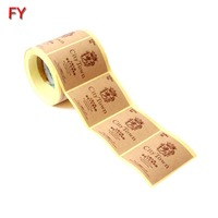 Fashionable Custom Self Adhesive Kraft Paper Label Sticker Printing