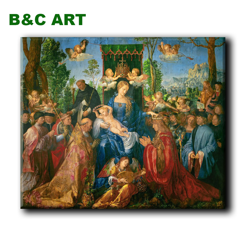 Best quality Reproduction Classical Canvas Feast Rosary Albrecht Durer handmade famous oil painting with frame