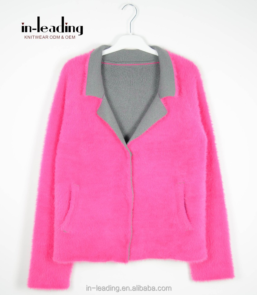 Adult CandyColor Knit Sweater Cardigan High Quality Coat Knitwear