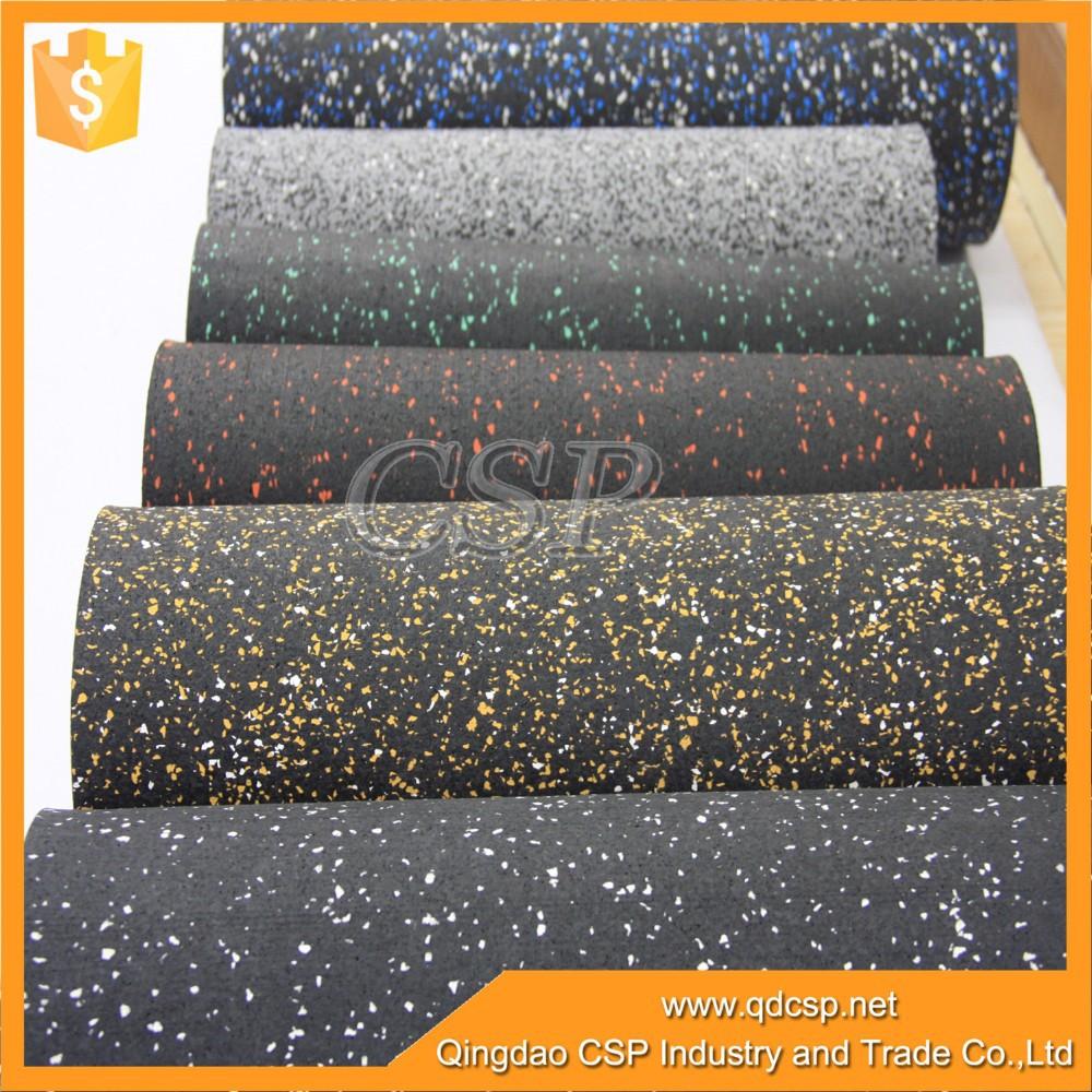 Caucho epdm manchas de color rollo de suelo para crossfit - Suelo caucho barato ...