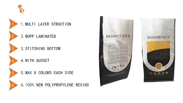 5kg 10kg 20kg 50kg BOPP tote pp dệt màu tay cọ sợi củi BBQ tàu sân bay túi cho than