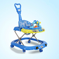 2016 New Baby Walker Car Anti roll over Multifunctional Baby Stroller Music Toys Plate Baby Walk