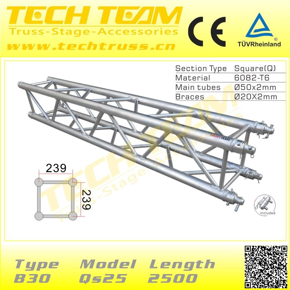 6082-t6 Techteam 289*289 3mm Aluminium Truss/waterproof Truss ...