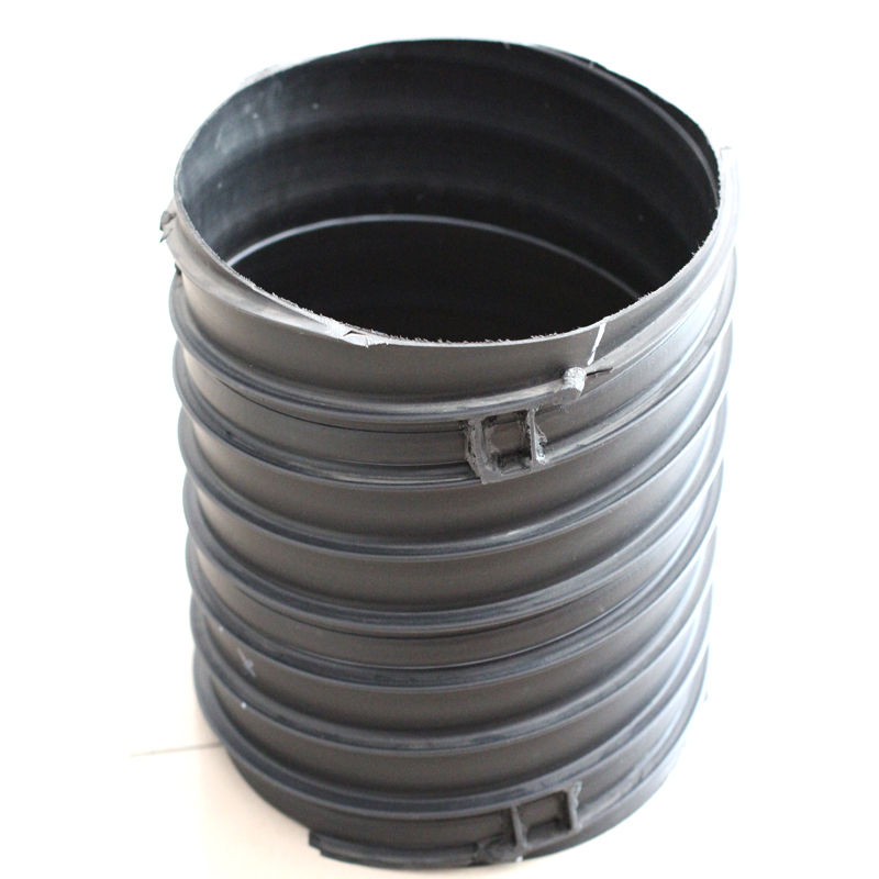 Drainage system steel reinforced single wall corrugated hdpe pipe