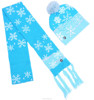 Wholesale winter gift knitted warm led pom pom beanie scarf set pack